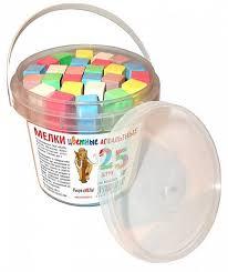 <b>Мелки</b> для асфальта <b>МЕЛАН</b> 25 штук, 5 цветов, в ведре: купить ...