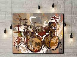 drums drummer gifts drum set drum prints drum art rock n roll art room decor browns neutrals art drummers drum canvas