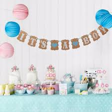 Baby Shower Banner Aliexpresscom Buy Kraft Paper Flags And Banners Birthday Party