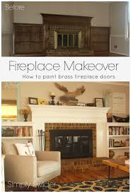 Fireplace Makeover Part 2 Painting Brass Fireplace Doors And