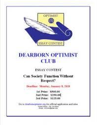 Optimist Essay Contest Optimist Clubs Student Essay Contest Deadline Jan 8