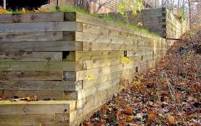timber retaining walls cross tie