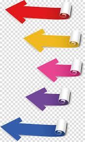 Assorted Color Flow Chart Illustration Arrow Color Arrow