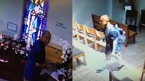 burglar pretended to pray while stealing money from poor box at bell gardens church