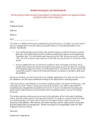 Employee Performance Letter Sample 49 Professional Warning Letters Free Templates Template Lab