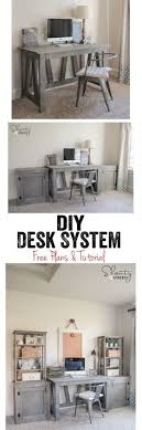 love this diy desk system completely customizable too free woodworking plans and tutorial at bathroomcute diy office homemade desk plans furniture