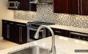 Kitchen With Glass Tile Backsplash Adorable Brown Glass Tile Kitchen Backsplash Wonderful Interior Design For