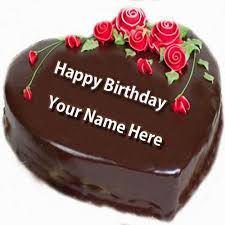write name on happy birthday cake and