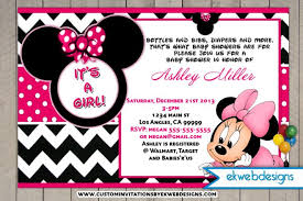 Pink Minnie Mouse Baby Shower Invitations Free Mickey Mouse Ba