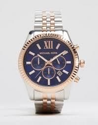 michael kors shop michael kors for men s watches michael kors michael kors lexington chronograph mixed metal watch in stainless steel mk8412