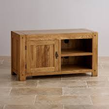 Quercus Tv Cabinet In Rustic Solid Oak | Oak Furniture Land intended for  Rustic Wood Tv