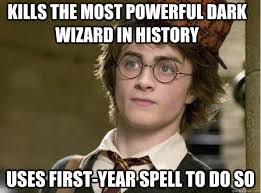 Kills the most powerful dark wizard in history uses first-year ... via Relatably.com