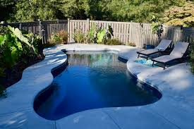 charlotte fiberglass swimming pools made this clients backyard into the oasis they were seeking featuring