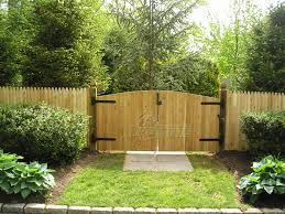 double fence gate. Wood-Continuos-Denver-Double-Drive-Gate-with-Stockade- Double Fence Gate N