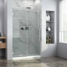elegant 48 w x 76 h sliding frameless shower door 3 8
