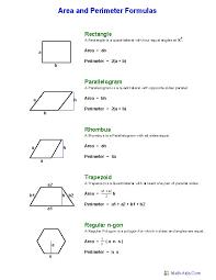 Hexagon Area Worksheets | Geometry Worksheets | Area and Perimeter ...