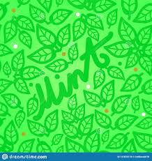 Mint Web Design Fresh Mint Leaves Seamless Pattern On A Green Background