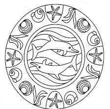 Mandala Con I Delfini Da Stampare E Da Colorare Gratis Disegni Da