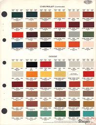 Dodge Paint Chart Color Reference