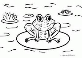 Small Picture Coloring Pages for Kids Frog Coloring Pages frog printable