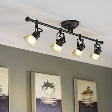 Oil Rubbed Bronze Kitchen Lighting Shop Allen Roth Tucana 4 Light Oil Rubbed Bronze Dimmable Fixed
