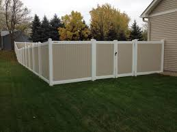 Vinyl privacy fence colors Gray Wood Grain Vinyl Vinyl Full Privacy Fences Radio Clubfoot Vinyl Privacy Fencing In St Paul Lakeville Twin Cities Woodbury