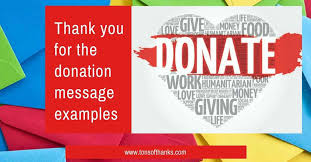 Thank You Letter For Donations Interesting Thank You For The Donation Note Examples