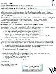 Examples Of Bartending Resumes Bartending Resumes Examples