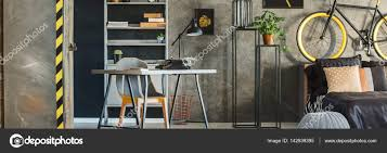 hipster apartment with accessories stock photo