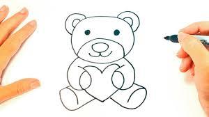 how to draw a teddy bear teddy bear easy draw tutorial