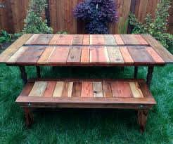Table With Drink Trough Reclaimed Wood Flat Pack Picnic Table With Planter Ice Trough