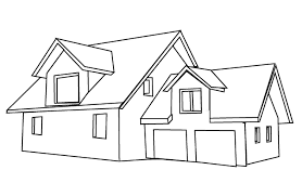 Small Picture Easy to Color coloring pages of a house free coloring pages of of