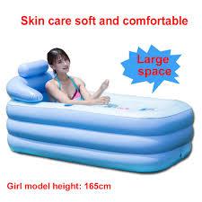 160cm portable kid bath tub pvc spa warm blowup inflatable bathtub
