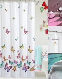 beautiful shower curtains. White Funny Panel Decorated With Butterfly Shower Curtains Beautiful O