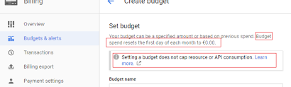 Budget Projects Capping Costs On Gcp For Many Projects With A Budget For