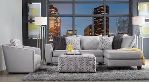 Yellow and grey furniture Living Room Ashford Landing Living Room Set Gray Sofa Set With Blue And Yellow Wall Art On Gray Rug Furniturecom Gray Blue Yellow Living Room Furniture Decorating Ideas