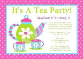 tea party templates girls tea party invitations tea party girls birthday party