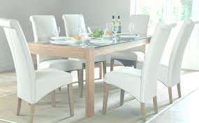dining room sets white set round table wooden and chairs gloss 6 roo