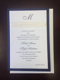 Love The Navy Blue Outline On This Beautiful Wedding Invitation
