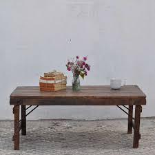 rustic vintage folding coffee table