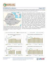 Ethiopia Price Bulletin August 2019 Ethiopia Reliefweb