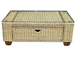 trunk end tables leather coffee table outdoor wicker cocktail rattan cov