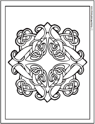 90 Celtic Coloring Pages Irish Scottish Gaelic Embroidery