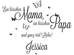 Wandtattoo Mama Papa Und Ganz Viel Liebe