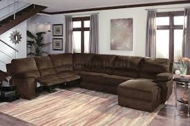 Tan Leather Sectional Sofa Combination Recliner Sleeper Fabric  Reclining With Chaise E70