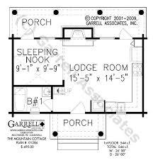 mountain cottage house plan 01286 1st floor plan