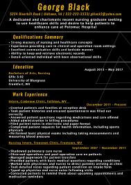 Nursing Resume Free Nurse Examples New Grad Objective Sample 04