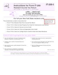 Fillable Online Tax Ny It 200 I Department Of Taxation And