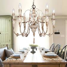 antique white chandelier 6 light wood distressed ciara dd crystal floor lamp antique white chandelier