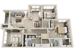 3 Bed 2 Bath C1 Floor Plan, At Lakeview At Superstition Springs, Mesa,